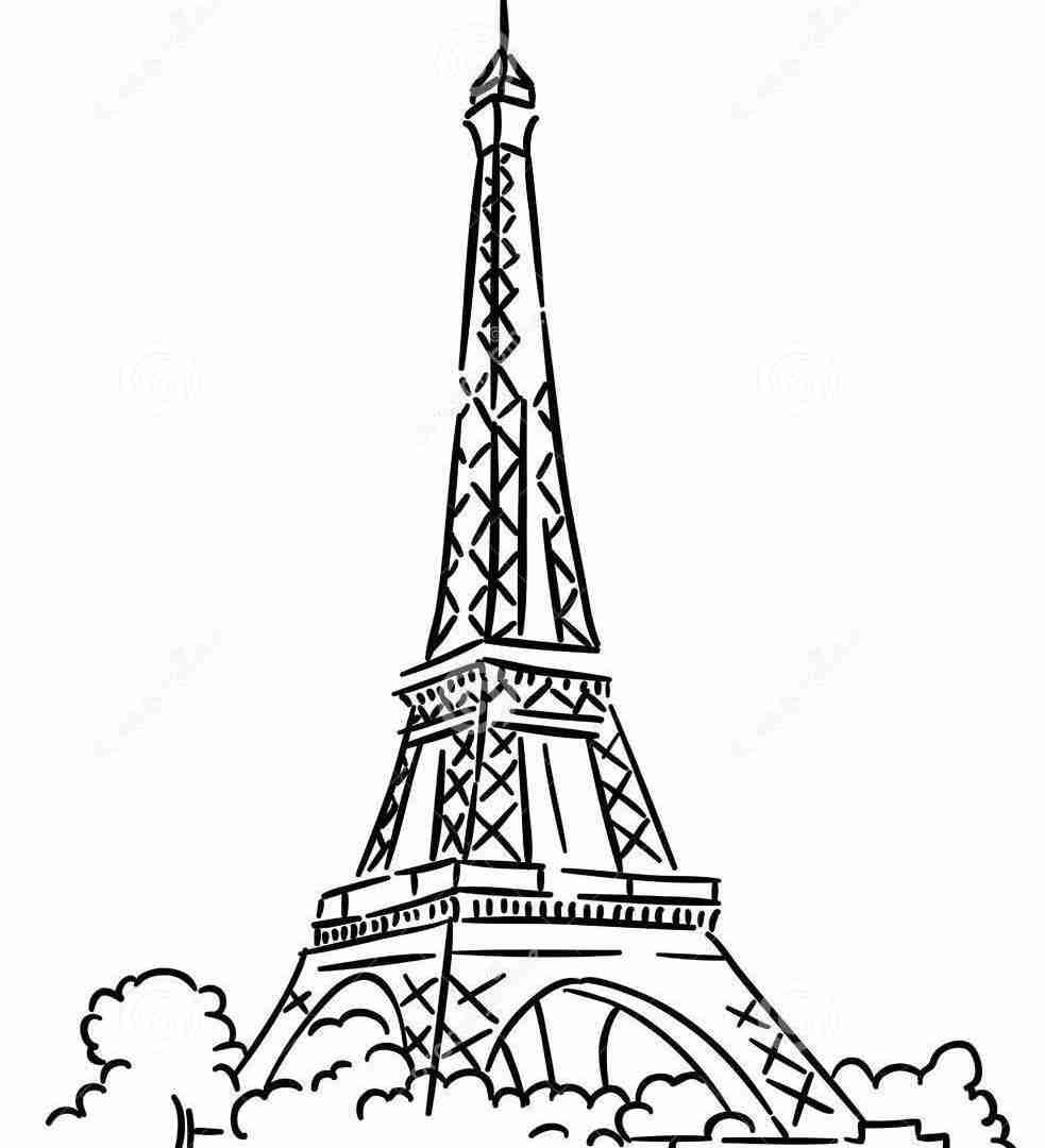 983x1080 Eiffel Tower Coloring Page Free Printable Pages For Kids Colouring