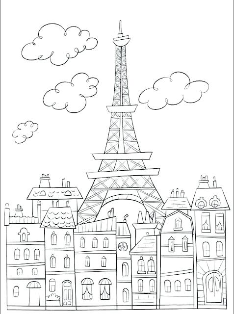 Eiffel Tower Coloring Pages Free At Getdrawings Com Free For