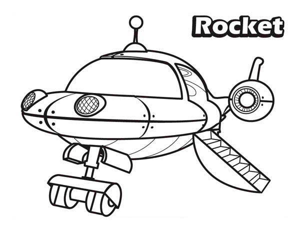 600x464 The Rocket In Little Einsteins Coloring Page