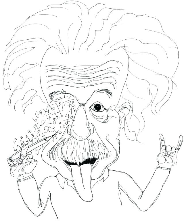 640x776 Albert Einstein Colouring Page Coloring Pages Printable Pictures