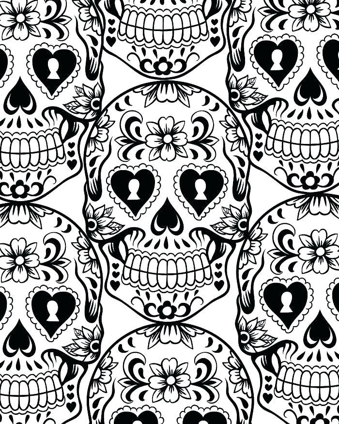 700x875 Dia De Los Muertos Coloring Pages A A Coloring Book Ii Dia De Los