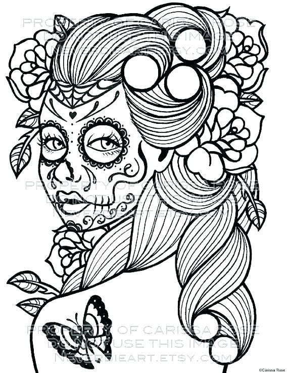 570x738 Dia De Los Muertos Coloring Pages Coloring Page Coloring Pages