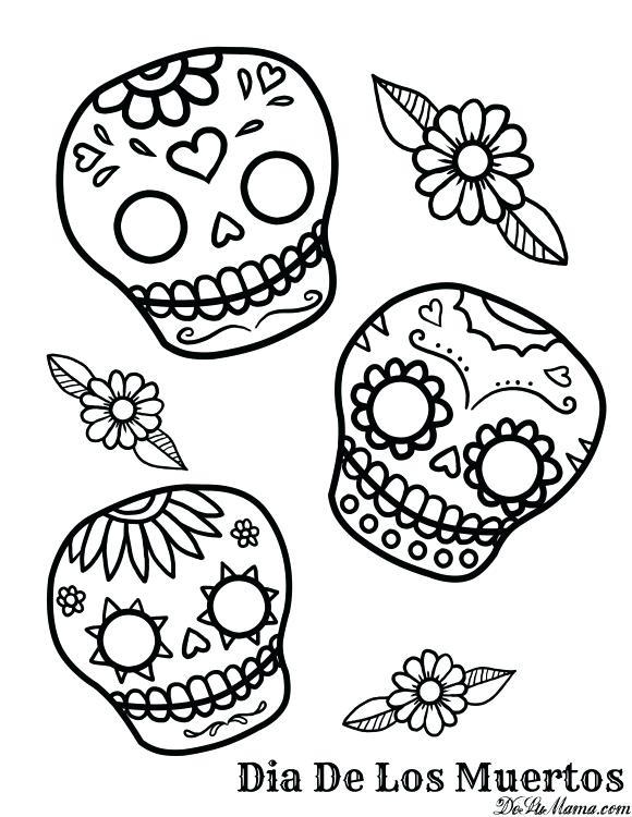 580x750 El Dia De Los Muertos Coloring Pages Printable Picture Dia De Los