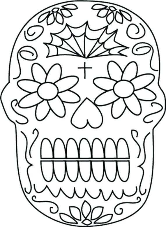 570x779 El Dia De Los Muertos Coloring Pages Related Posts Crafts