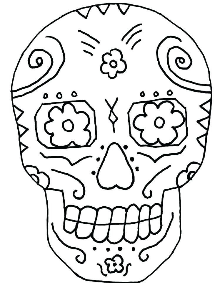 748x960 El Dia De Los Muertos Coloring Pages