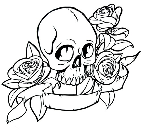 500x457 Hearts And Roses Coloring Pages Halloween Colorings Tortas
