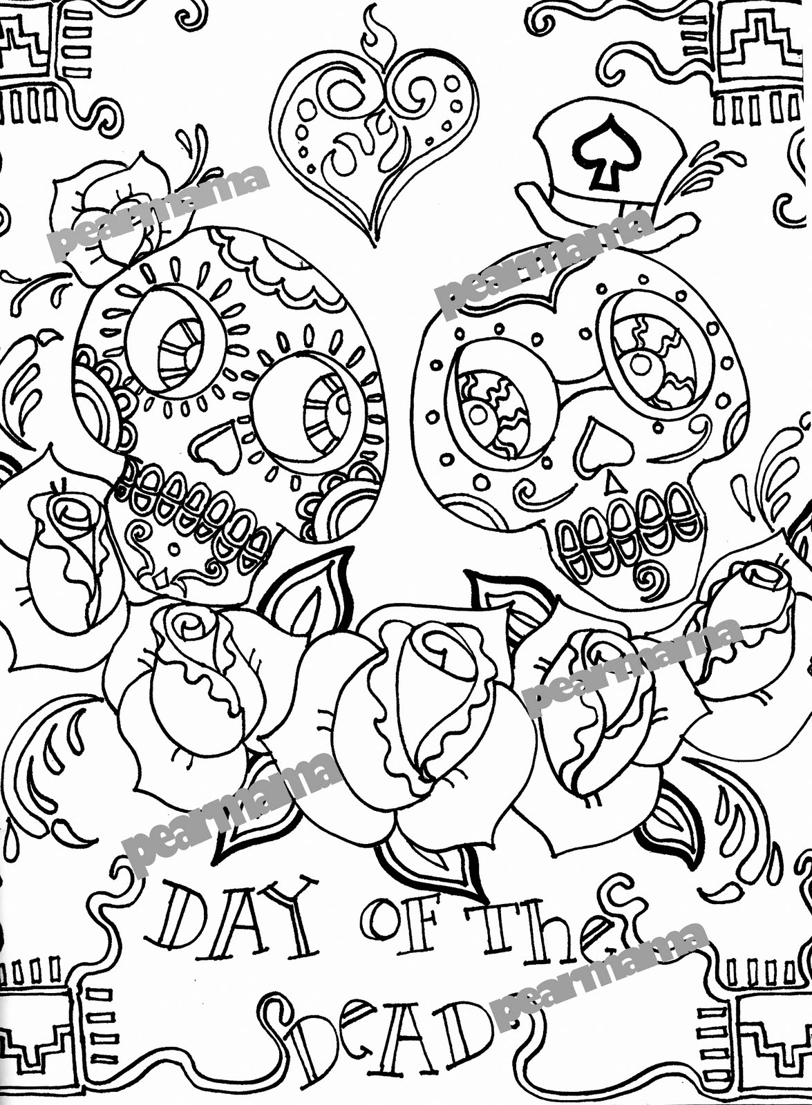 1175x1600 New Free Printable Day Of The Dead Coloring Pages Best Coloring