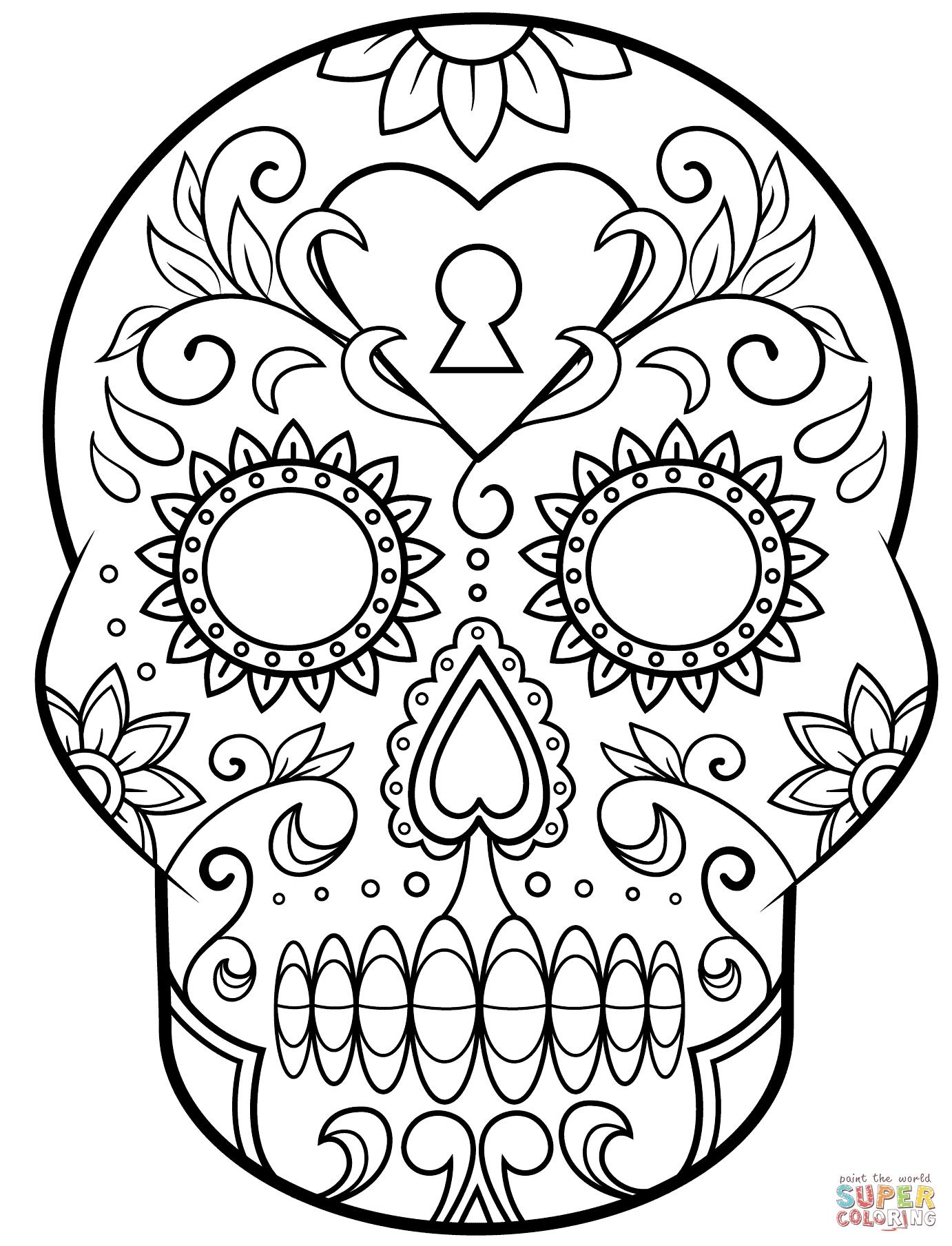 1382x1809 Dia De Los Muertos Coloring Page Crayola Com