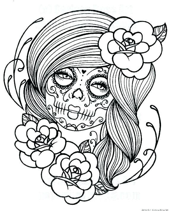 570x712 Dia De Los Muertos Printable Coloring Pages Coloring Pages