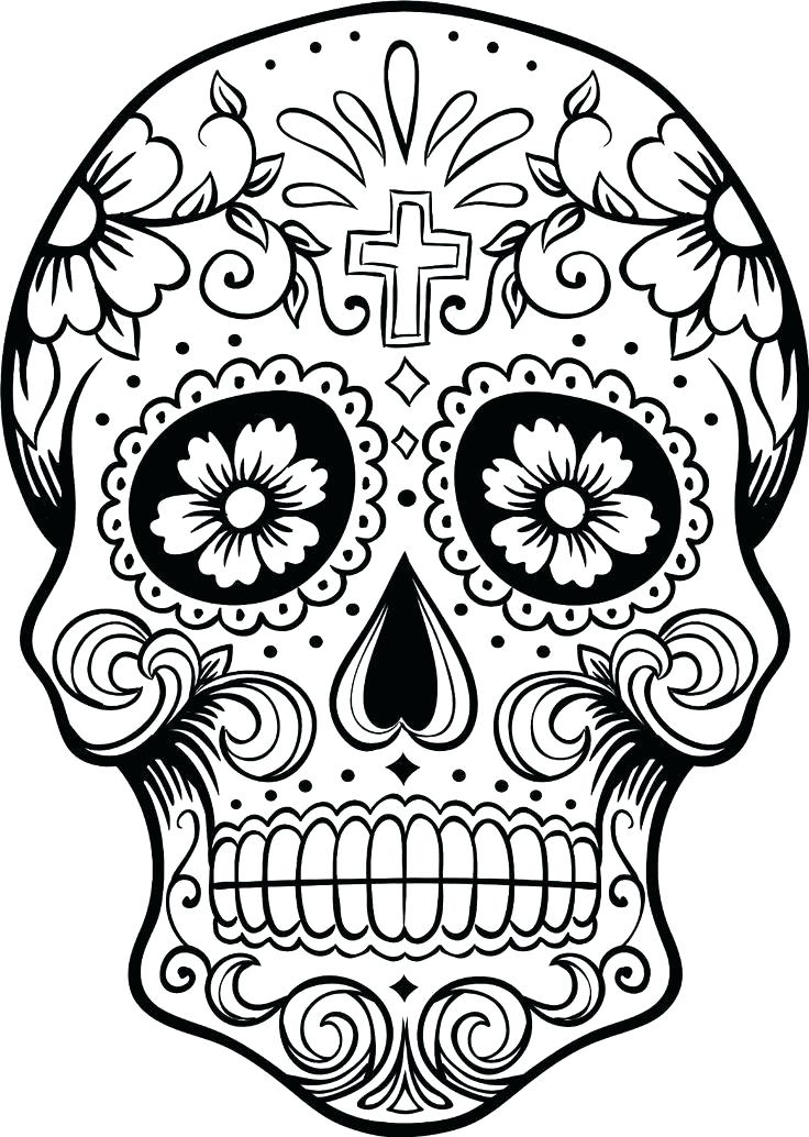 736x1034 El Dia De Los Muertos Coloring Pages Coloring Pages Packed