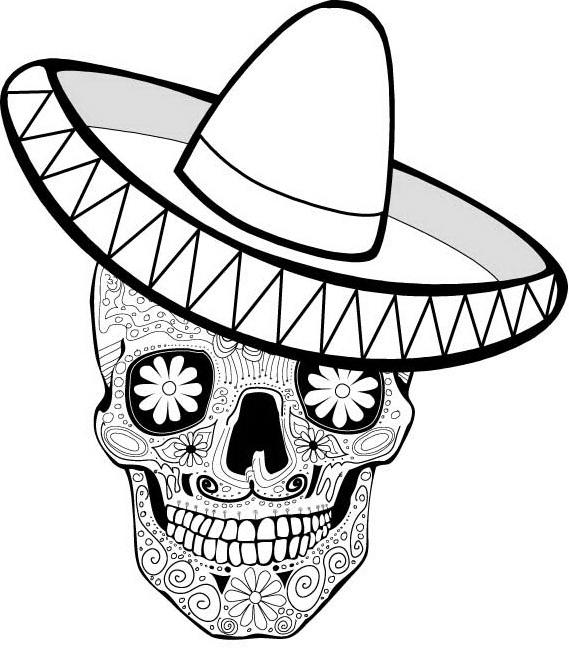 569x660 Gorgeous Dia De Los Muertos Skull Coloring Pages Diy Coloring Page