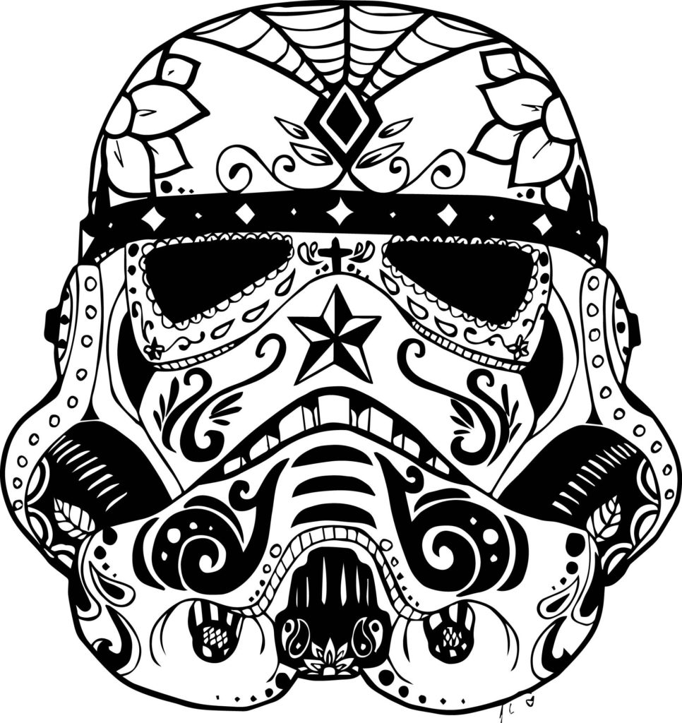 966x1024 Marvelous Day Of The Dead Skull Coloring Pages Printable Image