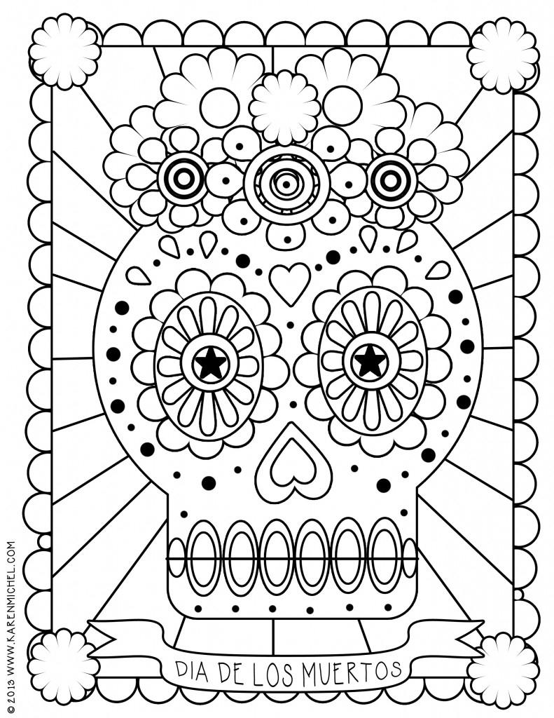 791x1024 Remarkable Decoration Dia De Los Muertos Coloring Pages Day