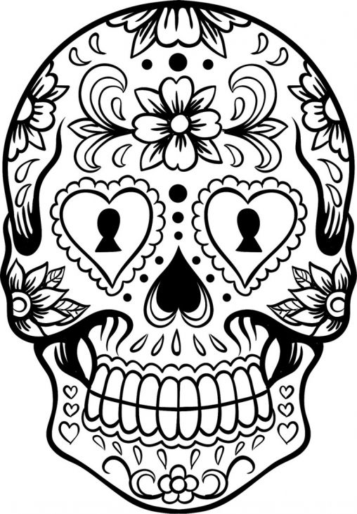 508x730 Sugar Skull Coloring Page Abstract Coloring Pages