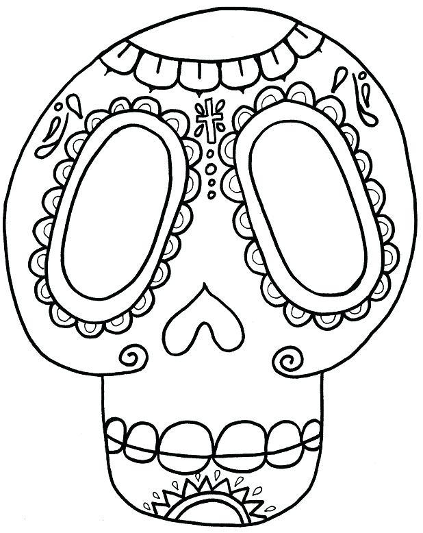 618x778 El Dia De Los Muertos Skull Coloring Pages Yongtjun