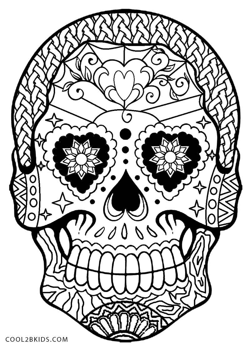 800x1113 Day Of The Dead Skull Coloring Pages