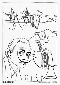 236x333 Salvador Dali Coloring Pages Clocks Salvador
