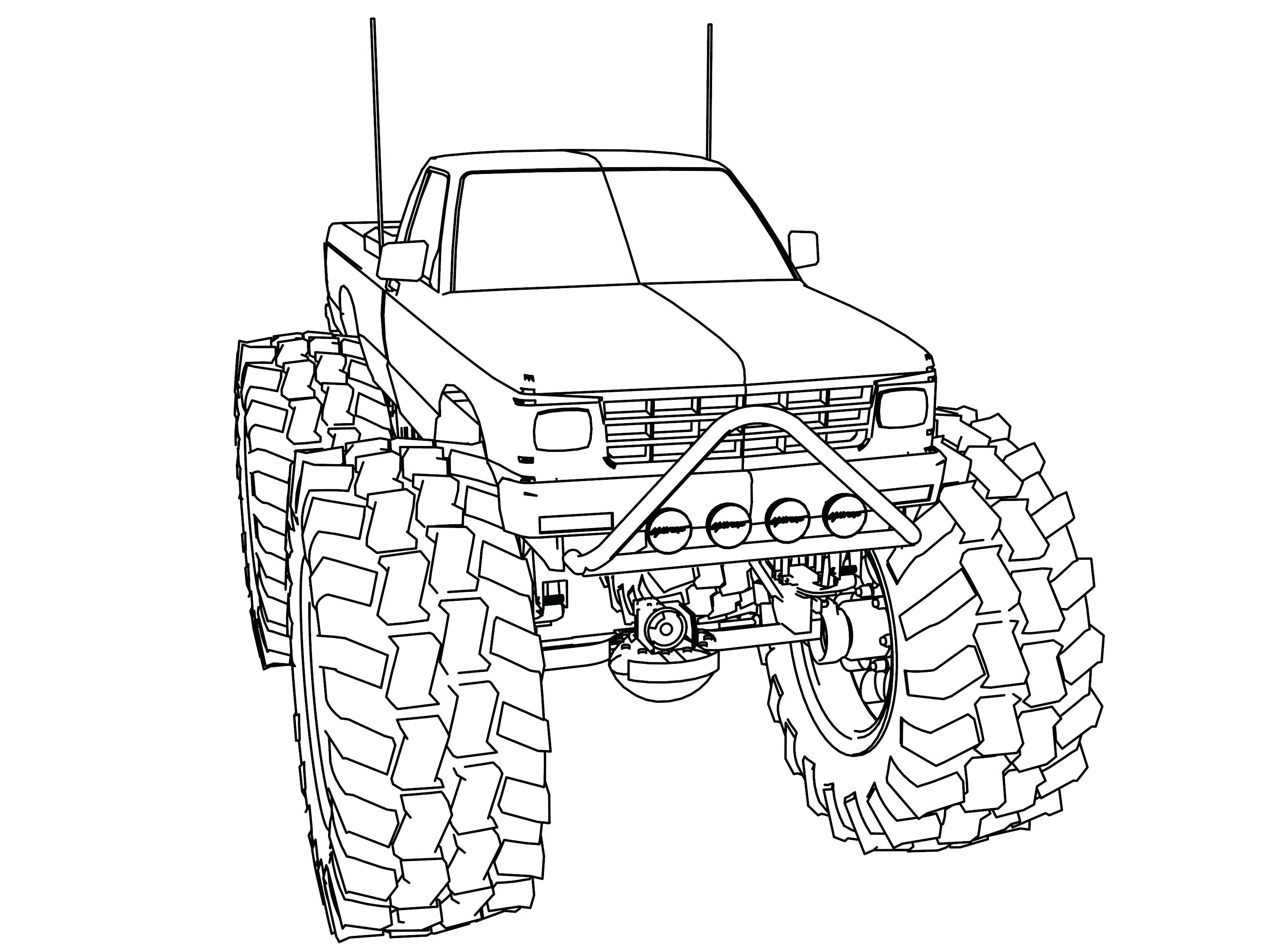 3000x2250 Monster Truck Color Pages El Toro Loco Coloring Page Pictures Free
