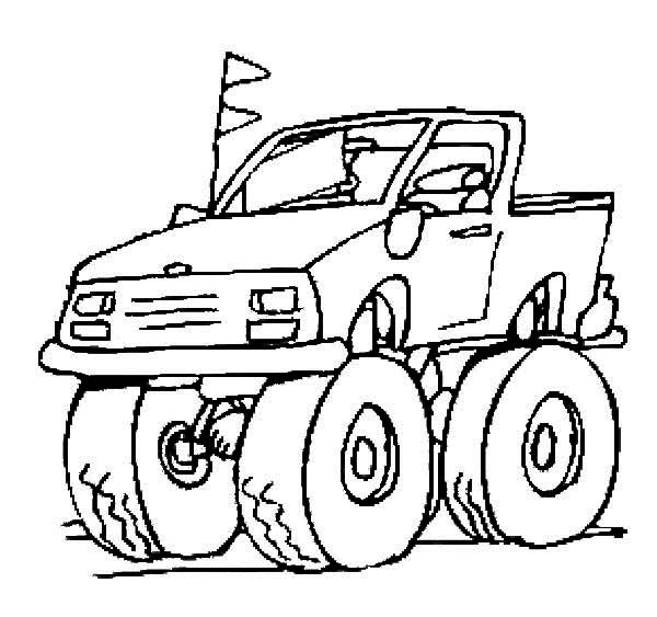 600x563 Monster Truck Coloring Pages El Toro Loco Monster Truck Coloring
