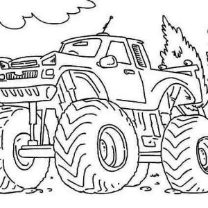 300x300 Monster Truck El Toro Loco Coloring Page Monster Truck El Toro