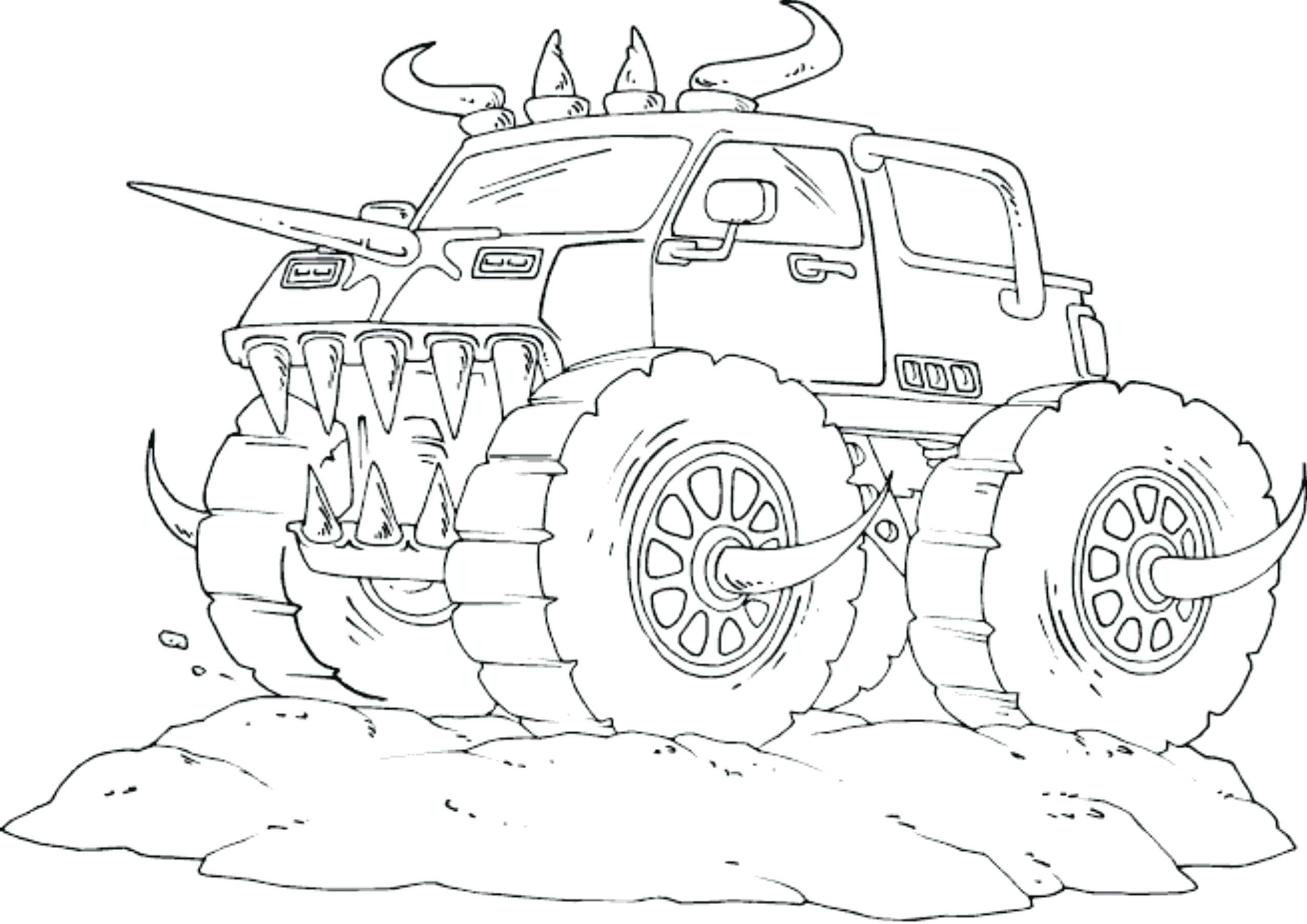 2551x1803 Revealing Monster Truck Coloring Pages To Print El Toro Loco Page