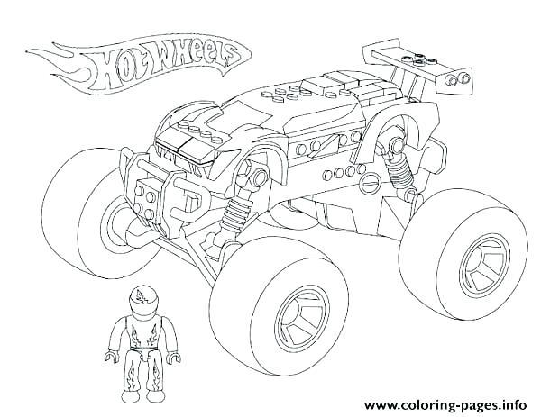 600x463 El Toro Loco Monster Truck Coloring Page