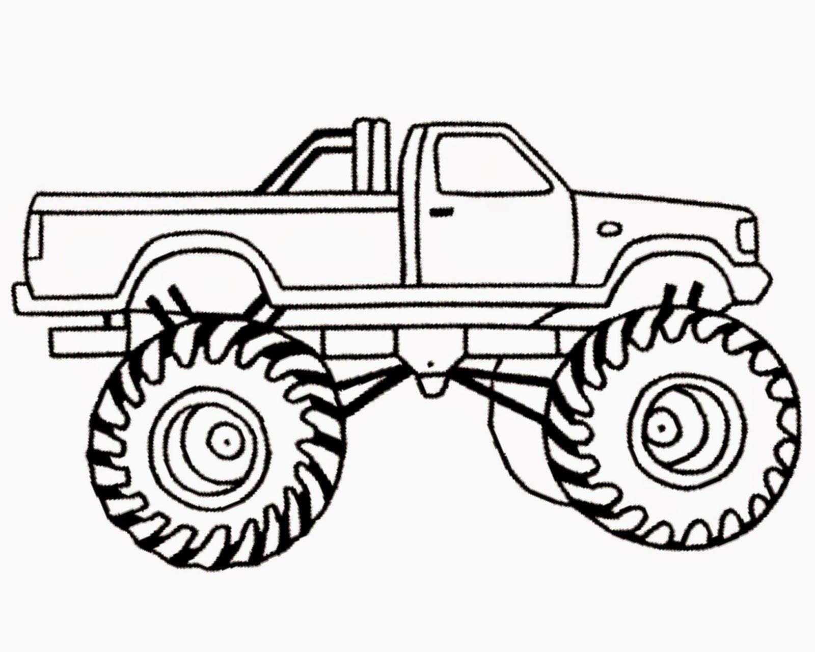 1600x1280 El Toro Loco Monster Truck Coloring Page