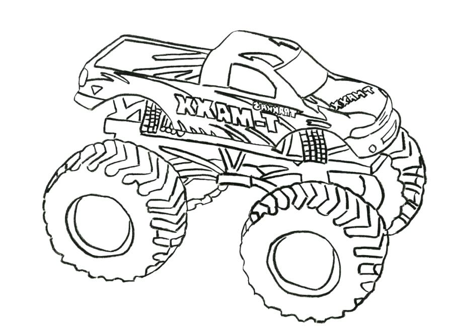 900x654 El Toro Loco Monster Truck Coloring Page Plus Loco Coloring Pages