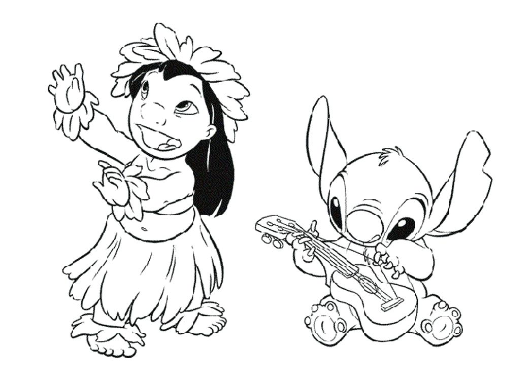 1048x749 Lilo And Stitch Coloring Pages Plus Very Detailed Elaborate Lilo