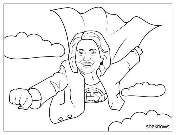 Eleanor Roosevelt Coloring Page