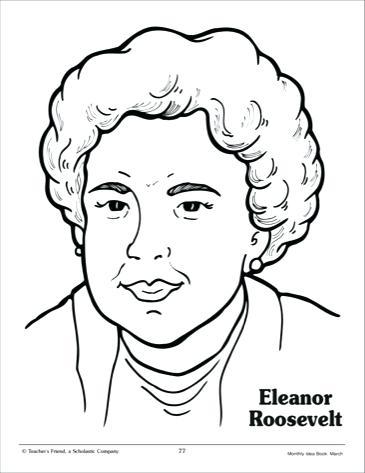 365x473 Eleanor Roosevelt Coloring Page Clip Art Eleanor Roosevelt