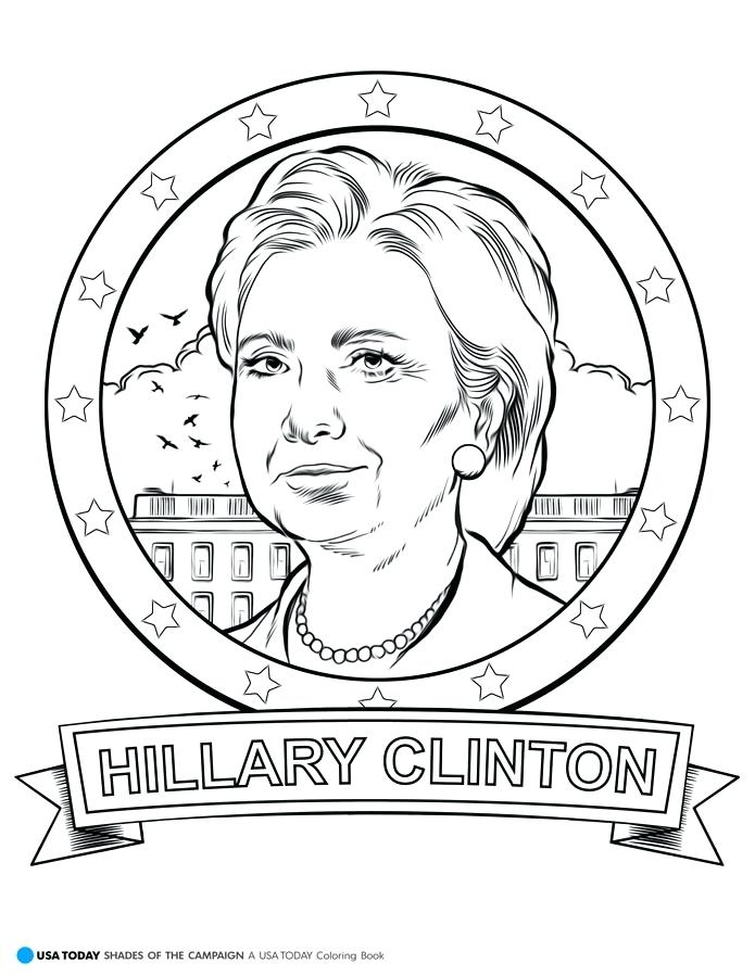 695x899 Eleanor Roosevelt Coloring Page