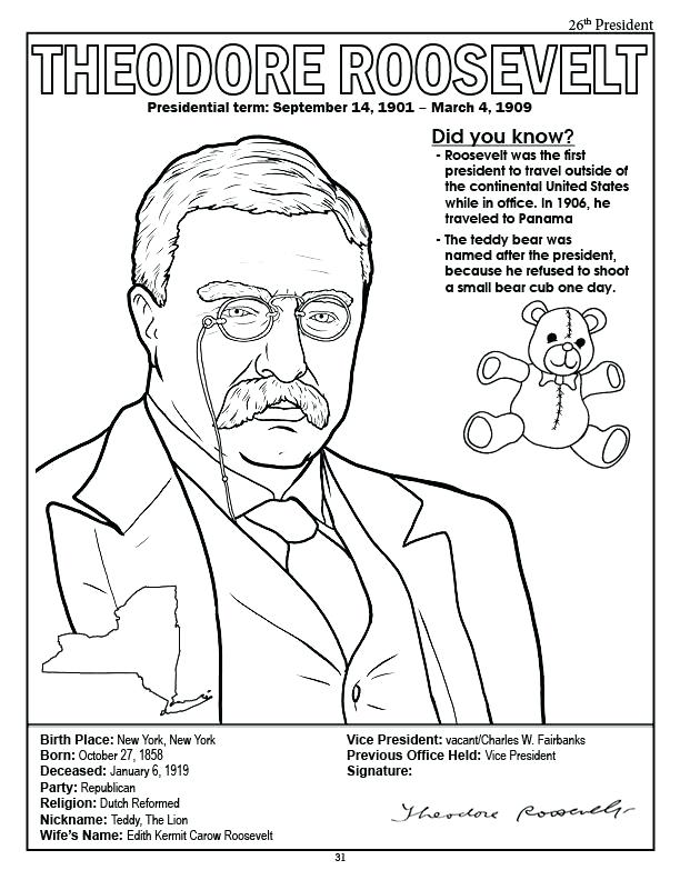 612x792 Franklin D Roosevelt Coloring Sheet Yogaspb Site