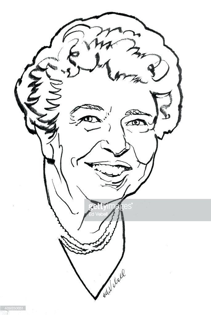 685x1024 Clip Art Eleanor Roosevelt Coloring Page Clip Art Home Improvement