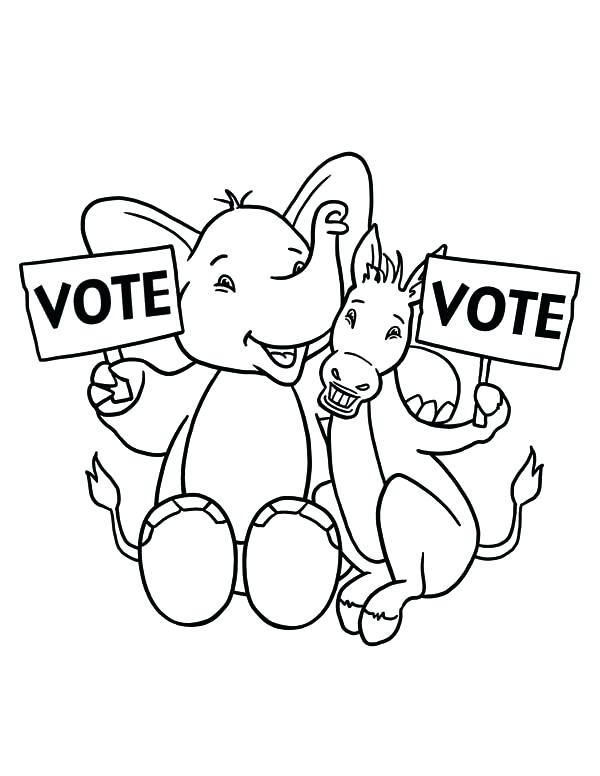 600x776 Election Day Coloring Pages Free Ballot And Vote Box Printable