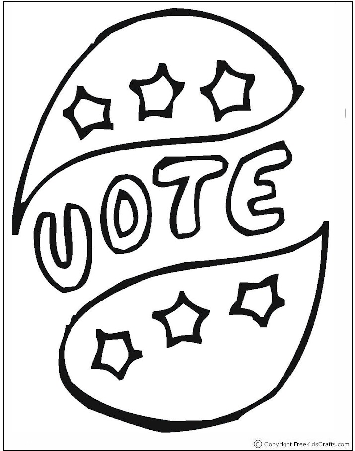 715x908 Election Day Coloring Pages