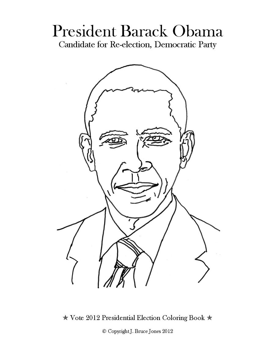 900x1165 Presidential Election Page Incredible Barack Obama Coloring