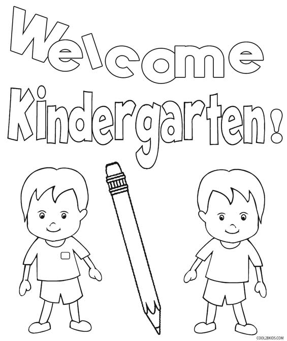 565x670 Printable Kindergarten Coloring Pages For Kids