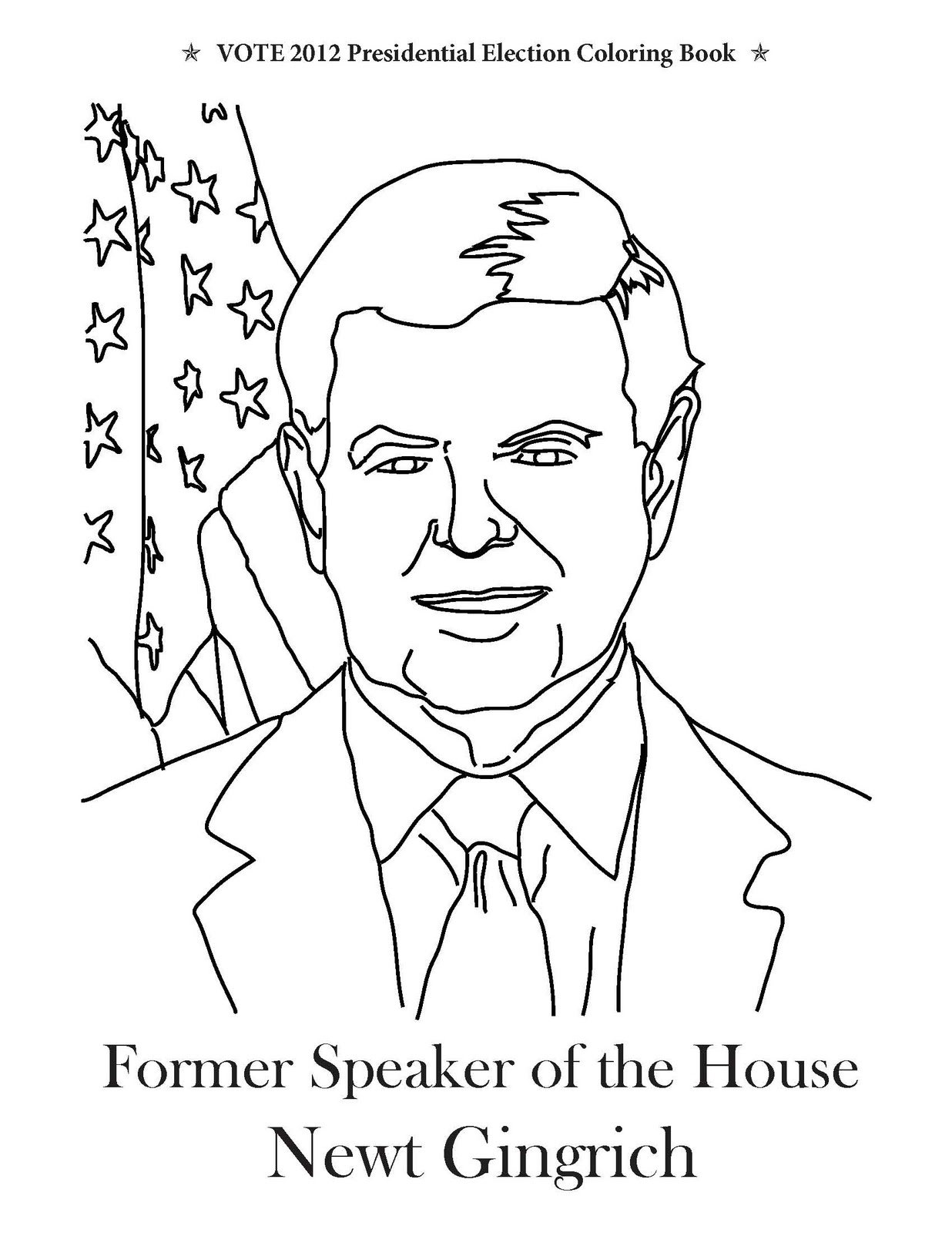 1236x1600 Vote Presidential Election Coloring Book December