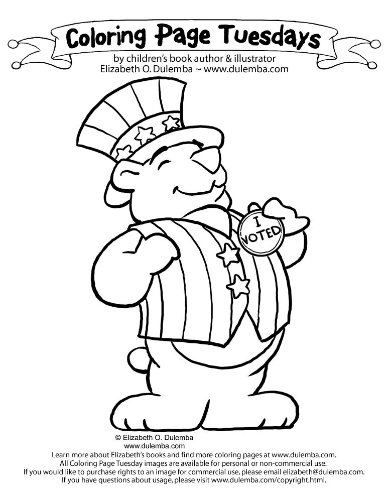 773x1000 Election I Voted Coloring Pages Classroom Ideas