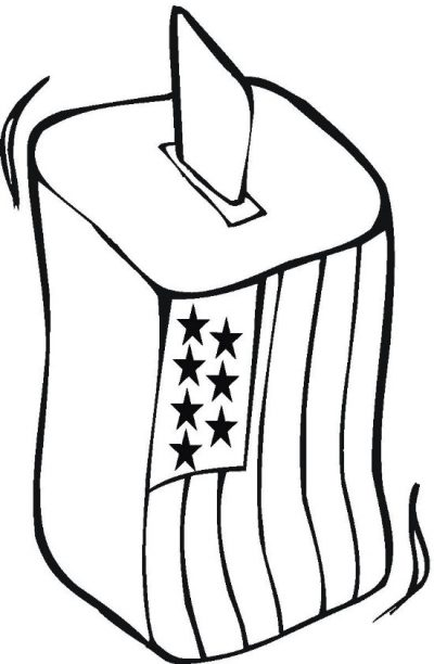 400x612 Election Coloring Pages