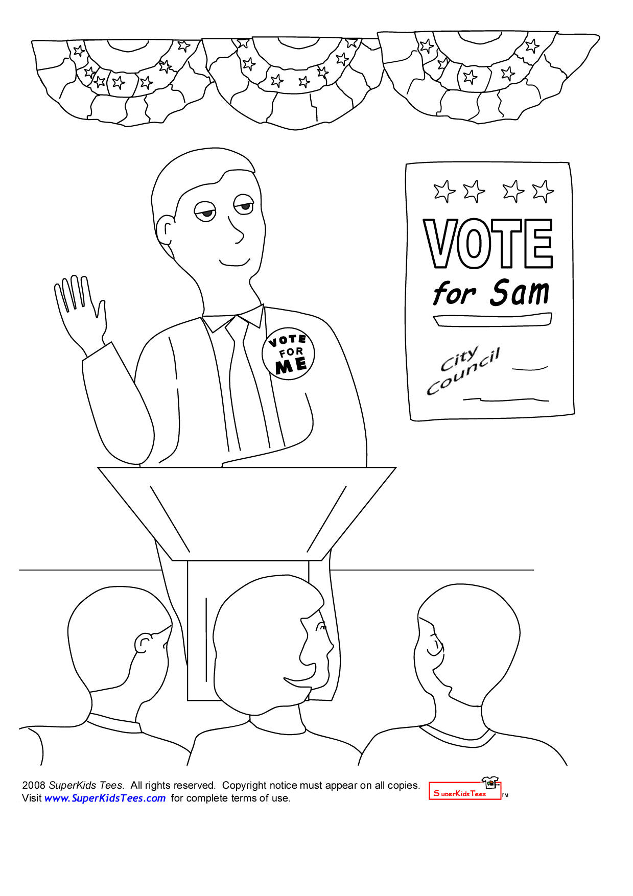 1239x1754 Election Day Coloring Pages