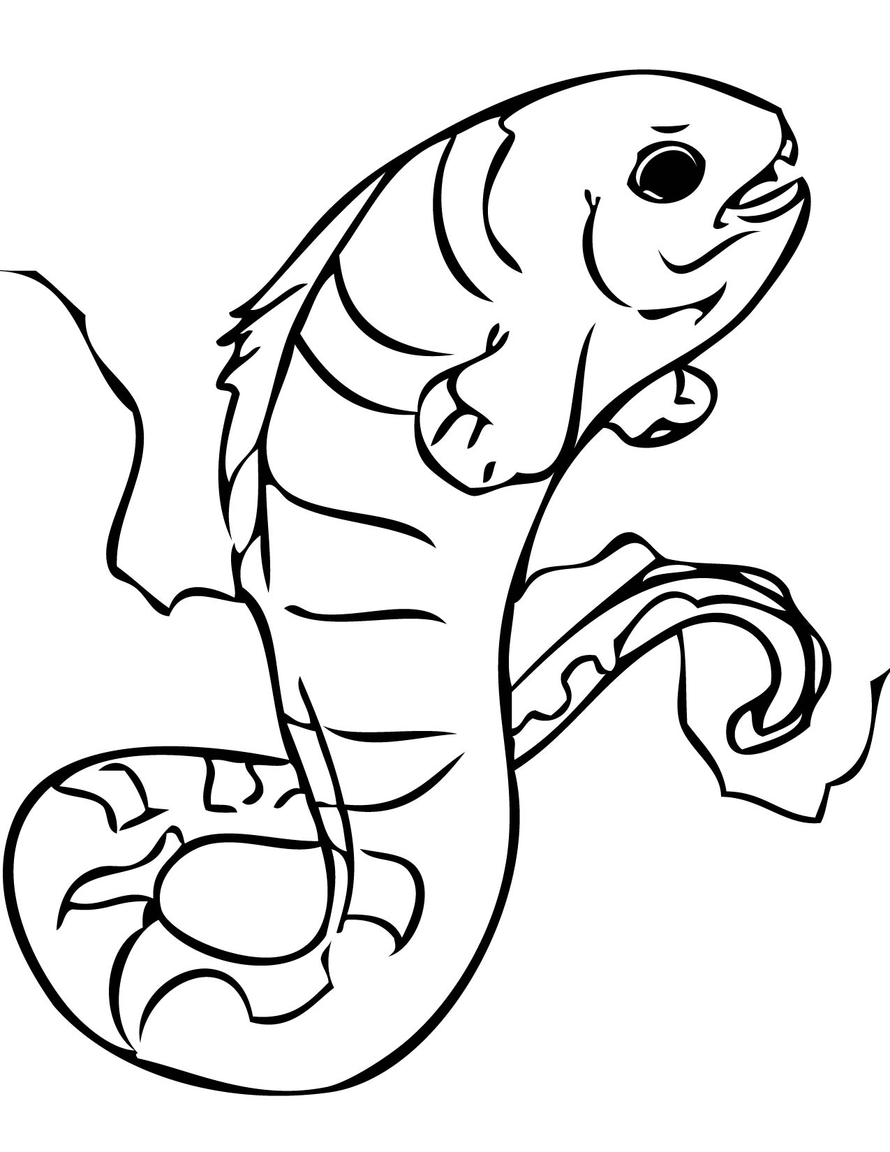 1275x1650 Wolf Eel Coloring Page