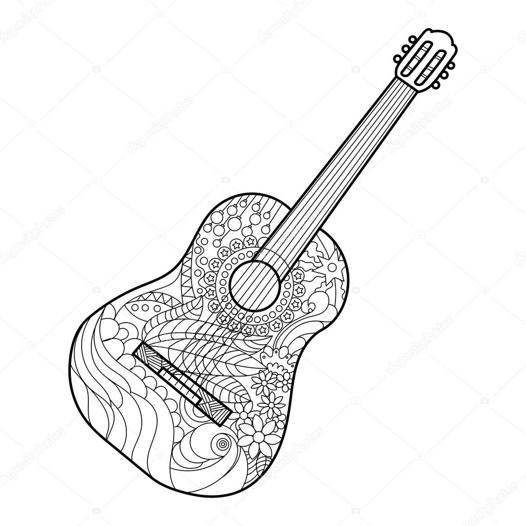 Electric Guitar Coloring Page