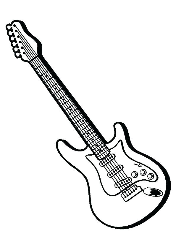 595x842 Electric Guitar Coloring Pages Printable Kids Coloring Guitar