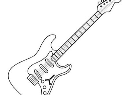 440x330 Electric Guitar Coloring Pages, Top Free Printable Guitar