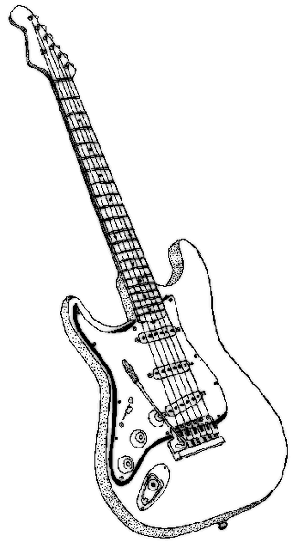 326x600 Guitar Coloring Page Coloring Pages Guitars, Adult