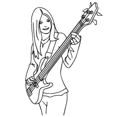 230x230 Top Free Printable Guitar Coloring Pages Online