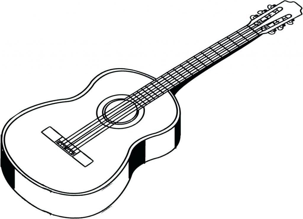 1024x740 Coloring Pages Guitar Coloring Pages Free Printable Page