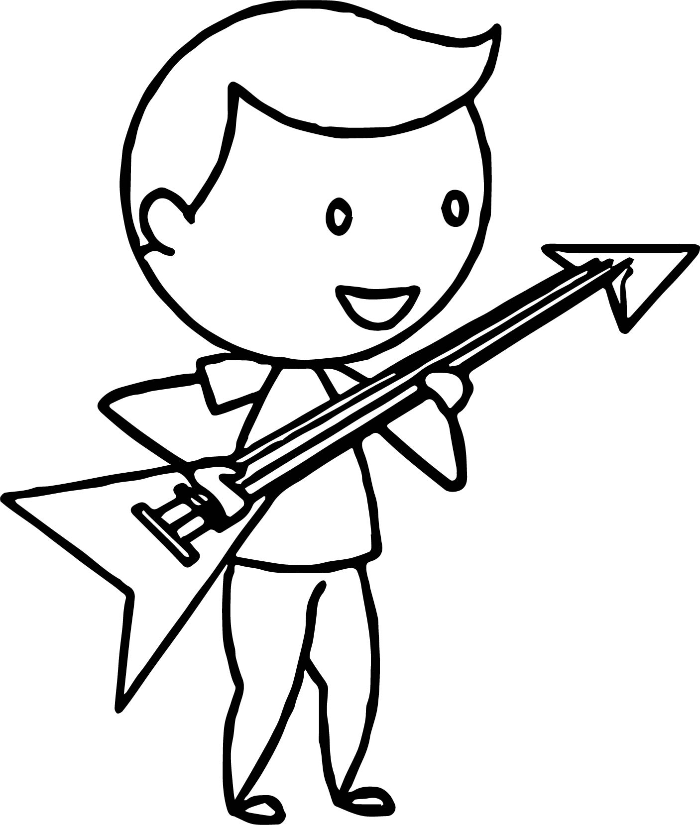 1406x1658 Boy Playing The Electric Guitar Coloring Page Wecoloringpage